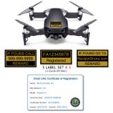 DJI Mavic Air (shown in Onyx White) - FAA Identification Bundle, FAA Registration Number Labels and Registration ID Card for Commercial Pilots