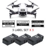 DJI Mavic Air FAA Registration number labels for drone and battery