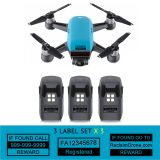 DJI Spark - Blue - with multiple batteries all with identification labels