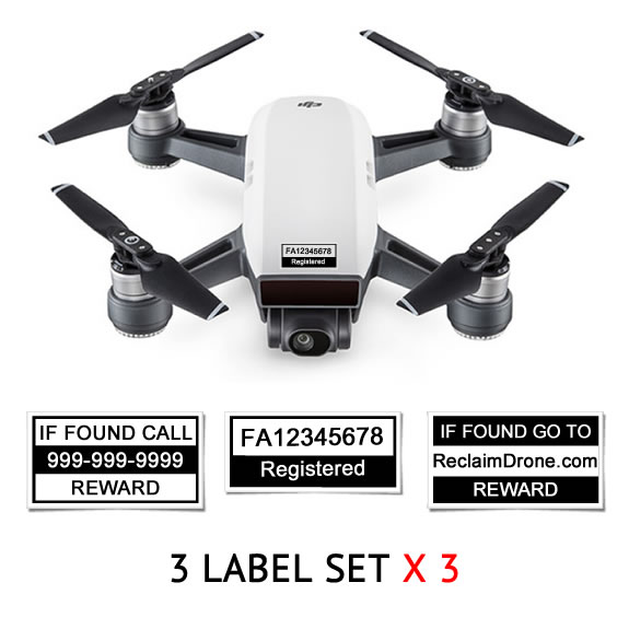 DJI Spark - White - with identification labels