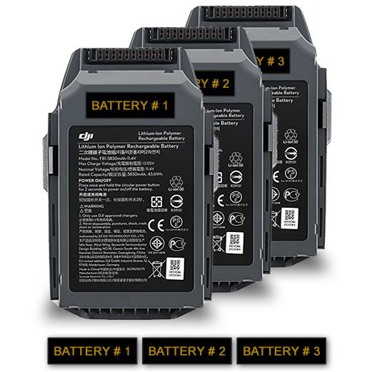 Battery labels for drone batteries