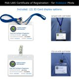 Lanyard and clip-on display options for FAA UAS Registration ID card