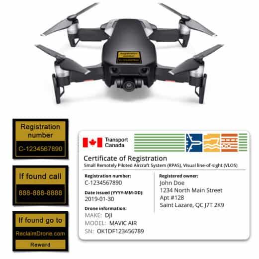 Mavic Air drone registration bundle for Canada - English version