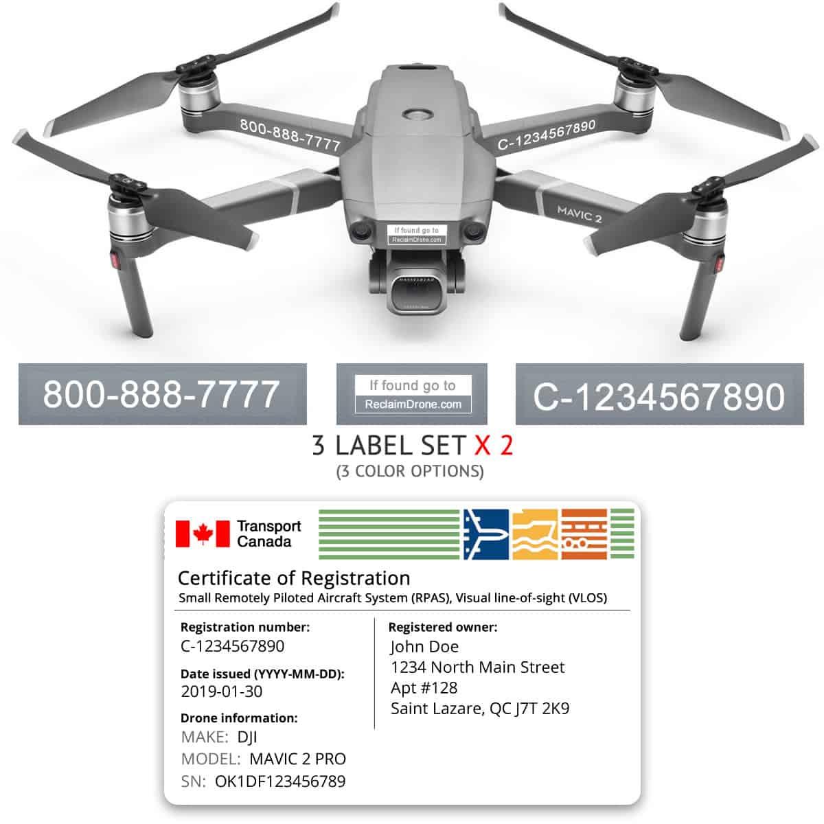 Mavic 2 Pro   Zoom drone registration bundle for Canada