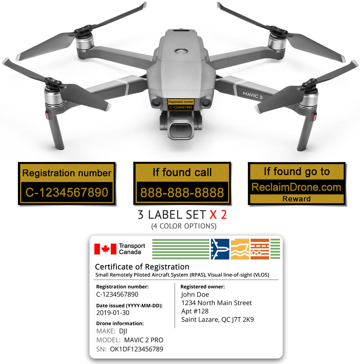 Mavic 2 Pro | Zoom drone registration bundle for Canada