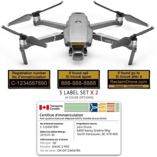 Mavic 2 Pro | Zoom drone registration bundle for Canada - French version