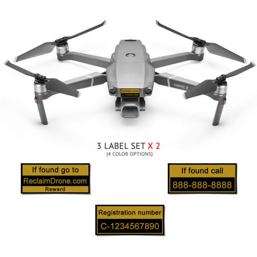 Mavic 2 Pro | Zoom with TC registration and phone numbers labels from reclaimdrone.com