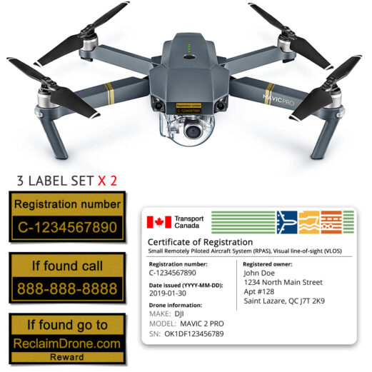 Mavic Pro drone registration bundle for Canada