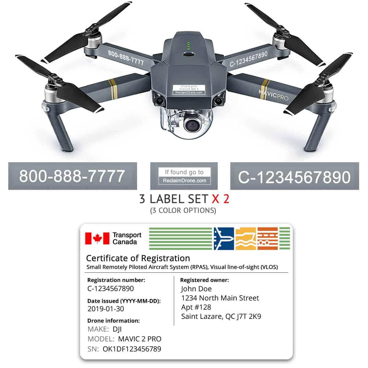 Mavic Pro drone registration bundle for Canada
