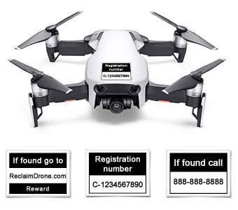 Mavic Air drone labels for Canada