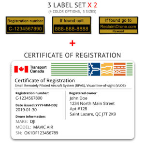 Transport Canada drone registration bundle for Canada - English version