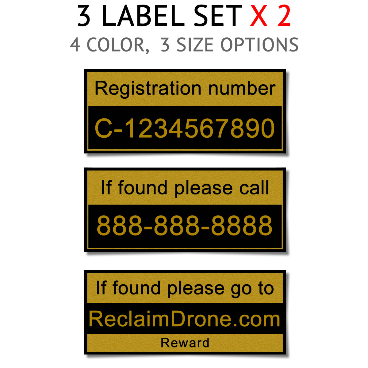 Drone TC registration labels for Canada