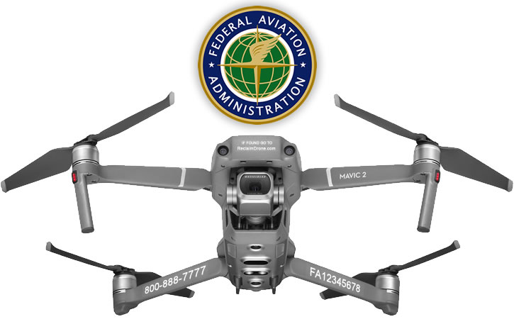 FAA Drone ID labels on DJI Mavic 2 Pro | Zoompx