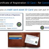 FAA Registration ID Card for commercial pilots that fits in your wallet
