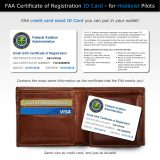 FAA UAS Certificate of Registration replica front and back side shown with wallet