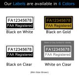 Mavic Air FAA Registration number label color options
