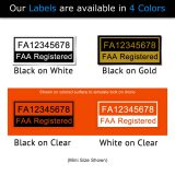 Four drone label color options