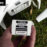 FAA UAS Registration Labels on drone battery
