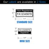 Mavic Air FAA Registration number label sizes