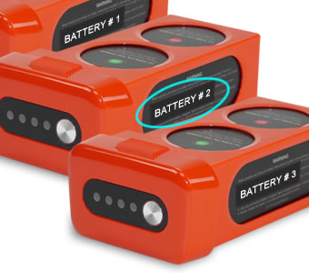 Autel X-Star drone numbered battery labels