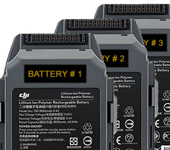 Drone battery labels