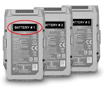 DJI Mavic Air 2 battery labels