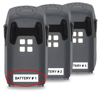DJI Spark drone battery labels