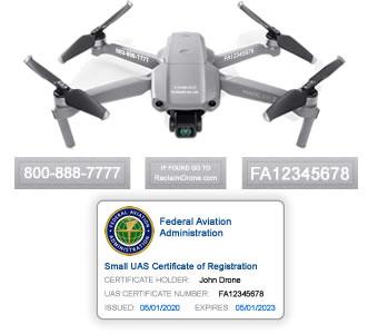 Mavic Air 2 drone FAA registration bundle