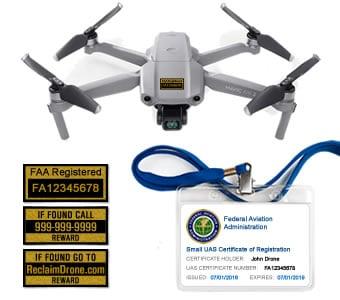 Mavic Air 2 drone FAA registration premium bundle