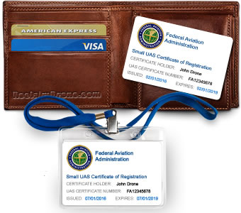 FAA Registration ID card