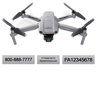 Mavic Air 2 drone FAA registration labels