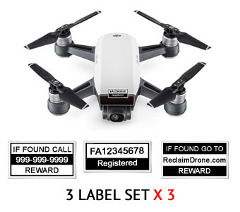 DJI Spark Label options