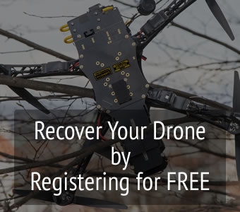Register your drone for free in our drone registery to recover when lost