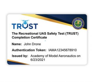 TRUST - Recreational UAS Safety Test Completion Certificate