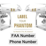 DJI Phantom 3 FAA Registration and Phone Number labels for legs of drone