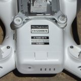 Drone labels applied to DJI Phantom drone