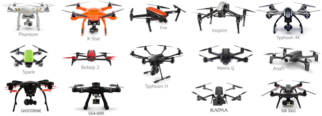 Popular drones that we have labels for
